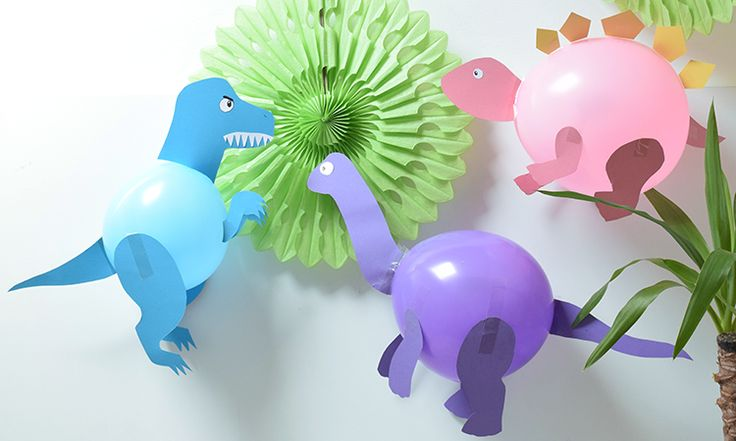 DIY Dinosaur Balloons - Party Pieces Blog & Inspiration