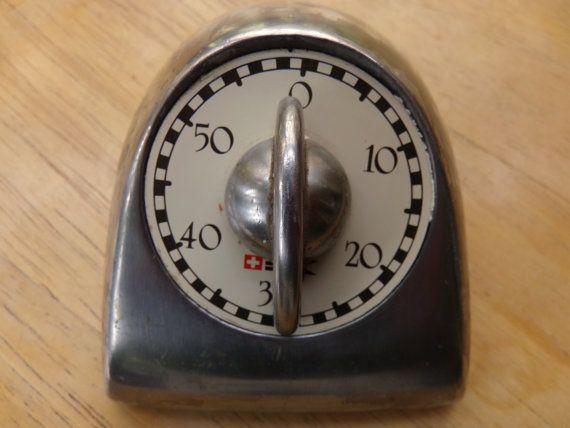 Vintage Swedish Cast Aluminum Kitchen Timer. Bengt Ek Design Industrial, Aluminum kitchen timer