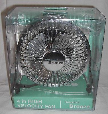 Hawaiian Breeze 4 In High Velocity Fan Small Desk Eb36444 Nos 25 00