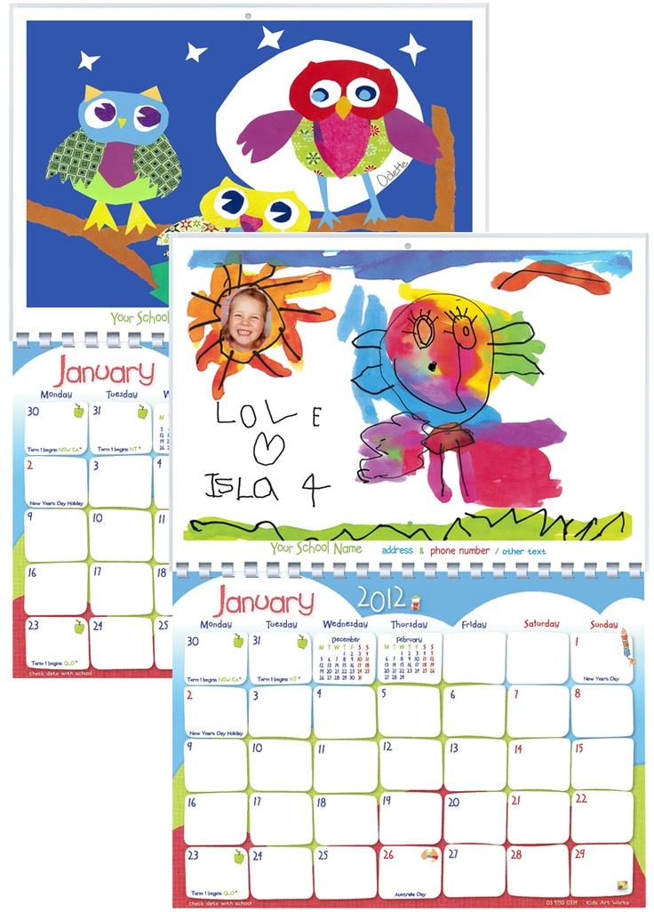 Calendar Art Kids : Best calendarios personalizados images on pinterest