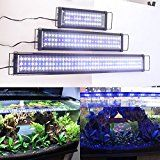 """Zeiger Eco Aquarium Hood Led Lighting Fish Lamp Freshwater and Saltwater decorations Light, White and Blue Adjustable 48'' - 60"""" (5730 LED 48 inch 39W)a060"""
