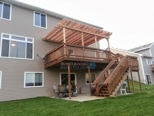 Alluring How To Build A Pergola On An Existing Deck Deck Addition And New Pergola Deck And Dr Building A Pergola Deck With Pergola Pergola