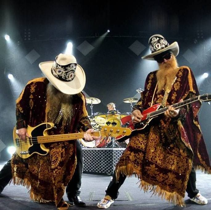 ZZ Top - gross looking men but WOW! Awesome sound. Also kinda creepy to watch live. But that's just me ;) - sr