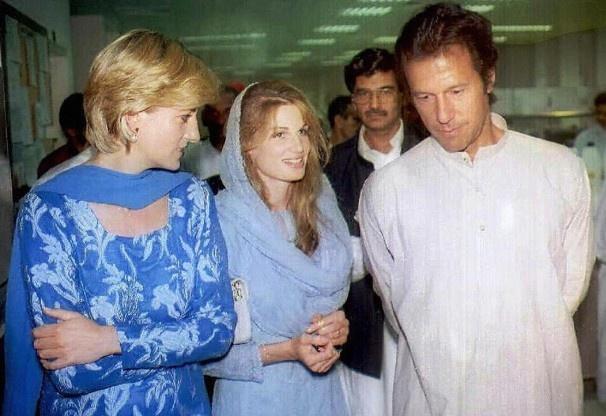 Imran Khan, Jemima Khan, Princess Diana (1996)