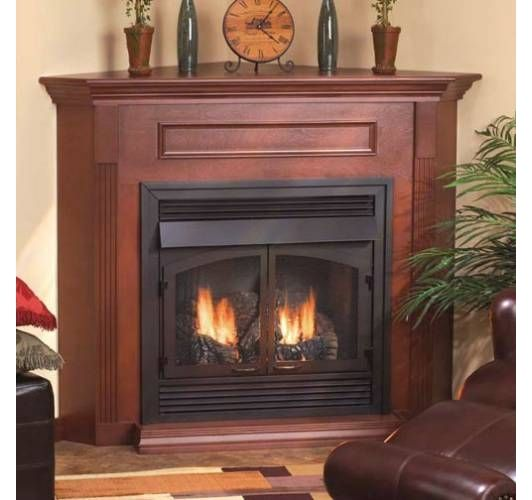 corner gas fireplace fireplace