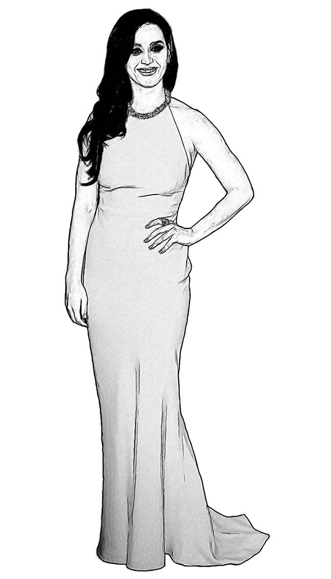 katy perry celebrity coloring page by dan newburn art pinterest