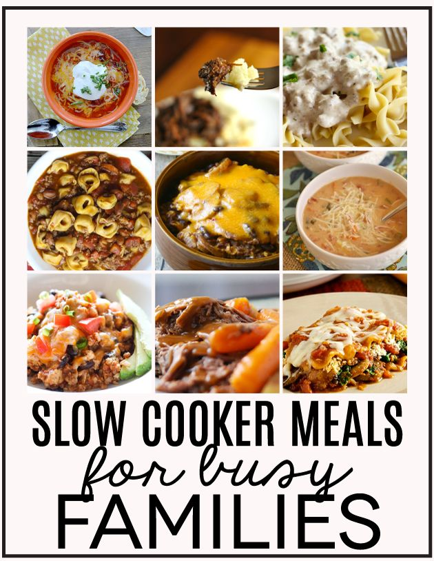 Slow Cooker Meals for busy families - a round up full of ideas to make crazy days easier.