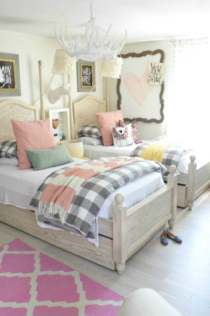 1000 ideas about shared room girls on pinterest shared rooms ikea kids and aqua kitchen - Girls bed room ...