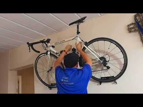 Installing a Levitate Bike Rack - Wall Mount Bicycle Hanger - YouTube