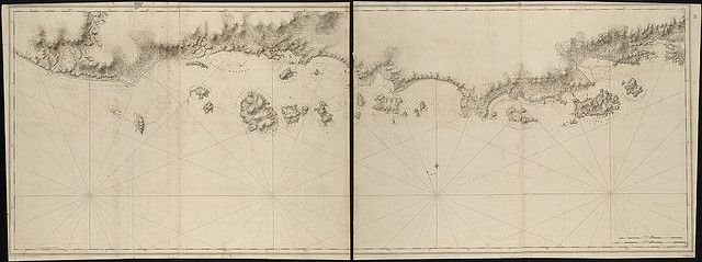 Chart of the coast of Quebec from the Riviere St. Jean to Grand Hermine Bay by Norman B. Leventhal Map Center at the BPL, via Flickr