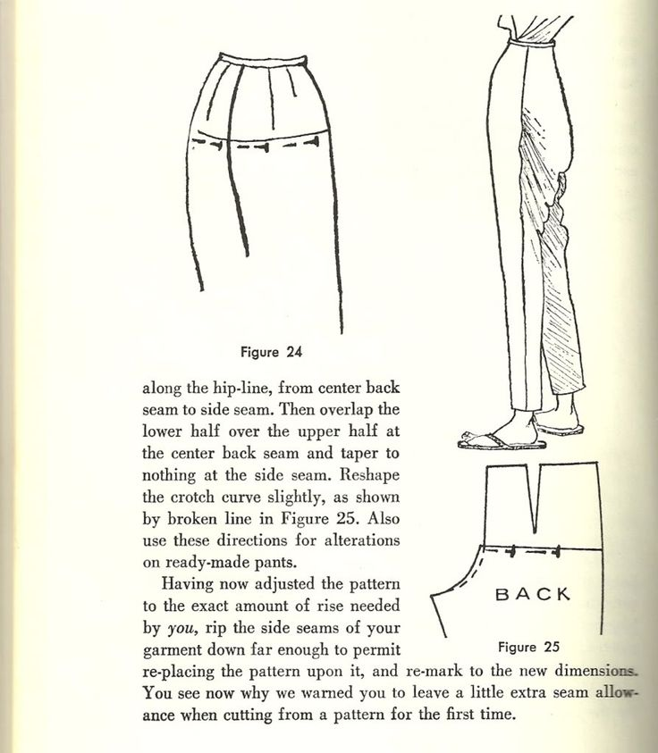 correcting baggy pants