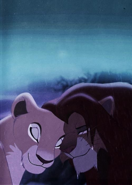Simba and Nala - The Lion King