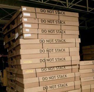 Everybody ignoring the do not stack print : mildlyinfuriating