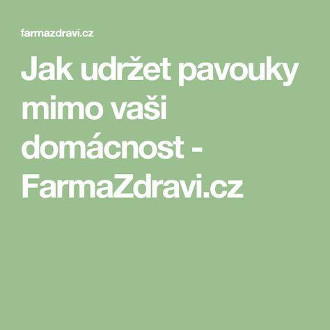 Jak udržet pavouky mimo vaši domácnost - FarmaZdravi.cz