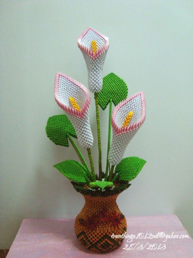 3D орігамі калла лив... | Альбом | Нга | 3D орігамі мистецтво