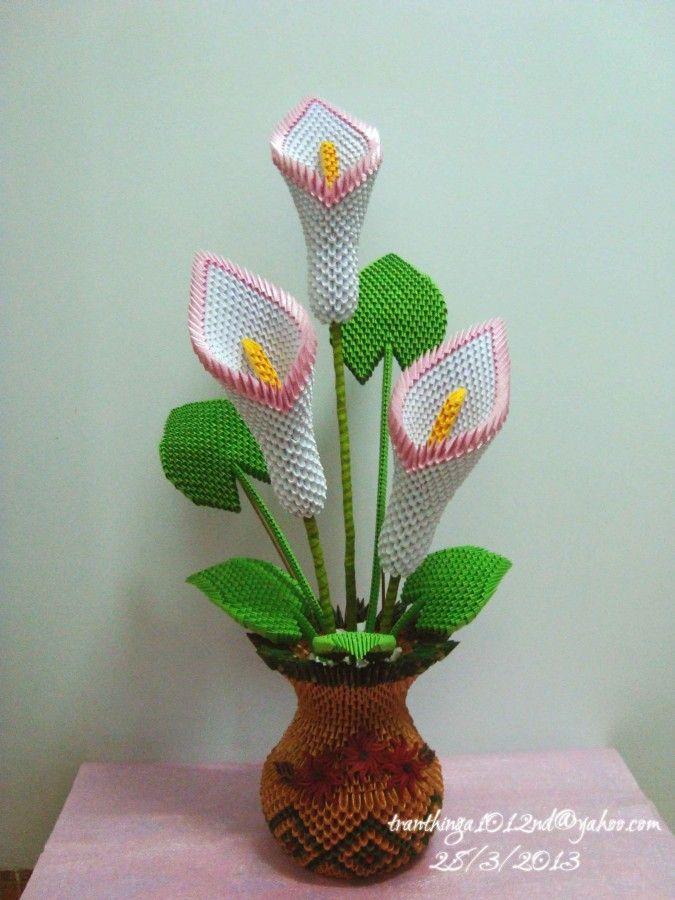 3d origami calla lil… | Album | Nga | 3D Origami Art