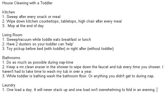 how to keep house clean with toddler and newborn