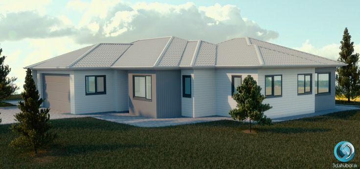 Exterior architecture 3D visualization