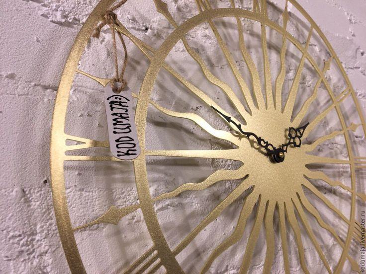 """Купить Часы 45см латунь """"Vana Tallinn Premium M"""" - золотой, часы из латуни, латунь"""