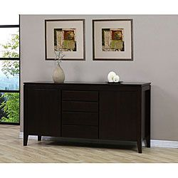 Complete Your Dining Room With This Yarra Buffet Furniture Is Made Of Solid Rubberwood Four Drawer Has A Dark Halifax Brown Finish