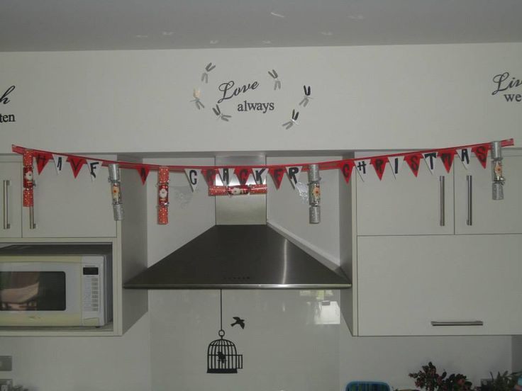 Kitchen bunting for Christmas
