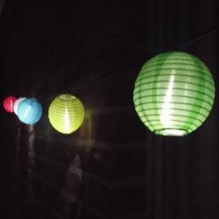 Chinese lantaarns op zonne-energie -
