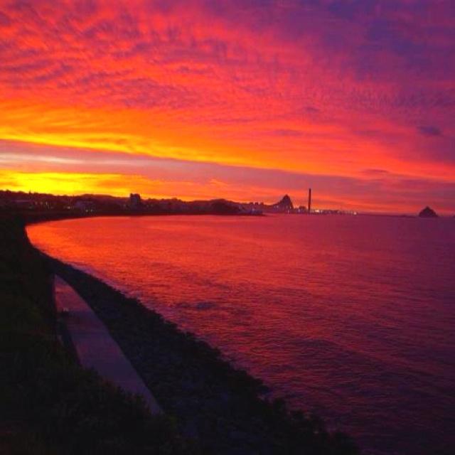Beautiful Taranaki NZ at sunset