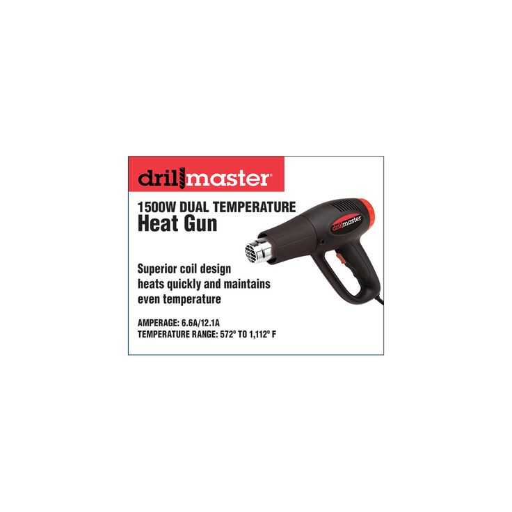 Heat gun at Harbor Freight affordable and two temperature settings.