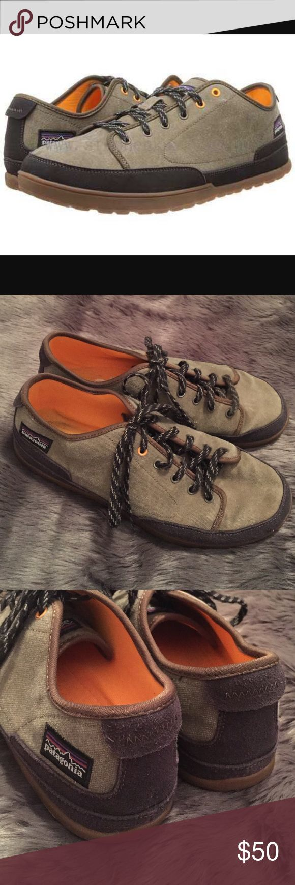 Patagonia Hickory Activist Sneakers Like new Patagonia Hickory activist canvas sneakers.  The only signs of wear include slight wear on the soles and some slight paint chipping on some of the shoelace eyelets.  Otherwise, the shoes look new. Patagonia Shoes Sneakers