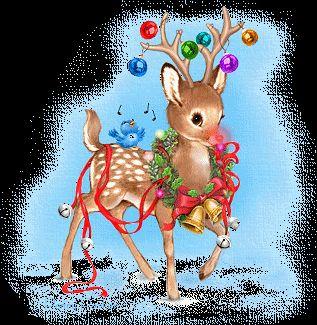 christmas gifs photo: Christmas Deer christmas-scraps-131.gif