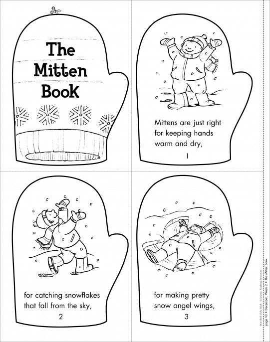 The Mitten Book: Mini-Book of the Week from Scholastic. FREE printables.