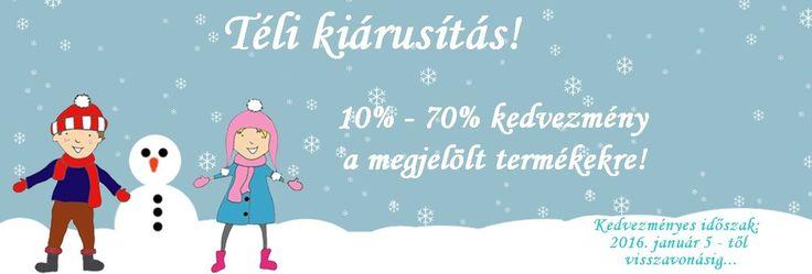 Téli kiárusításunk Január 5-től visszavonásig érvényes.  http://www.ruhakpalotaja.hu/