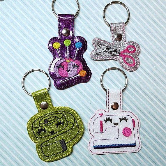 4x4 DIGITAL DOWNLOAD 4 pc Kawaii Sewing Machine Snap Tab Key