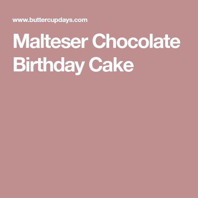 Malteser Chocolate Birthday Cake