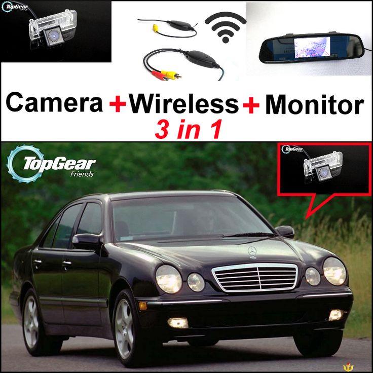 For Mercedes Benz MB E320 E350 E500 E550 E63 3in1 Special WiFi Camera + Wireless Receiver + Mirror Screen DIY Parking System