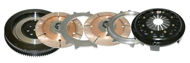 Comp Clutch 03-06 Lancer EVO 7/8/9 (750 ft/tq) Twin Disc Ceramic Clutch Kit