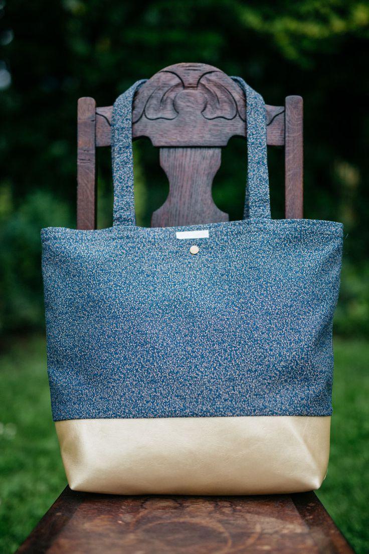 Handtasche Tweedyblue Gold von Wolkenfabrik