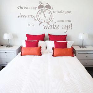 muursticker slaapkamer wake up ! - slaapkamer | pinterest, Deco ideeën