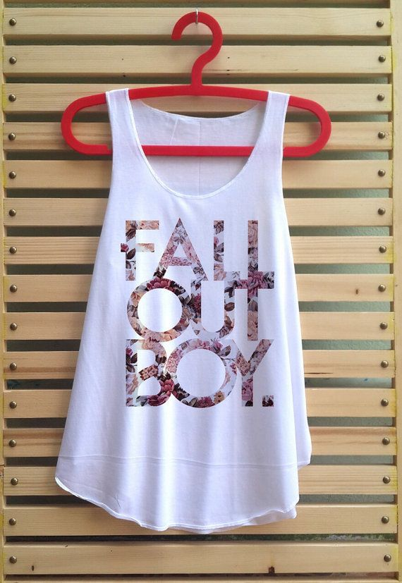 fall out boy flower shirt fall out boy tank top by TCFABRIC, $14.99