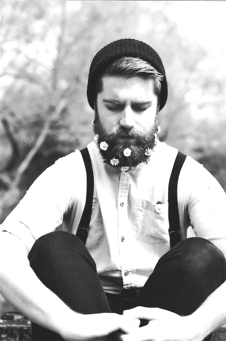 This is secretly why I want Joshua to grow out his beard. So I can put flowers in it!