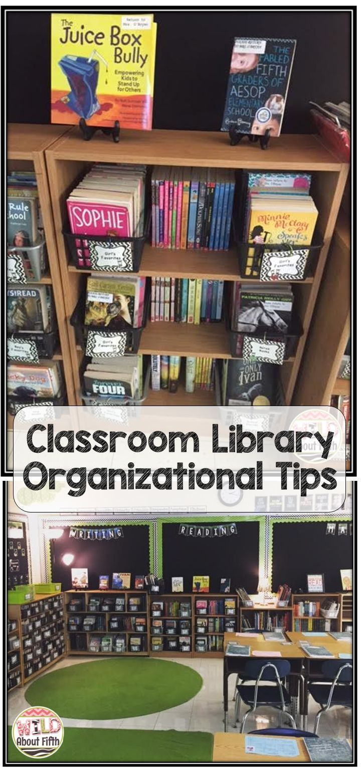 Show and Tell Tuesday Blog Post - Showing off my classroom library set up and organization! #wildaboutfifth #classroomlibrary