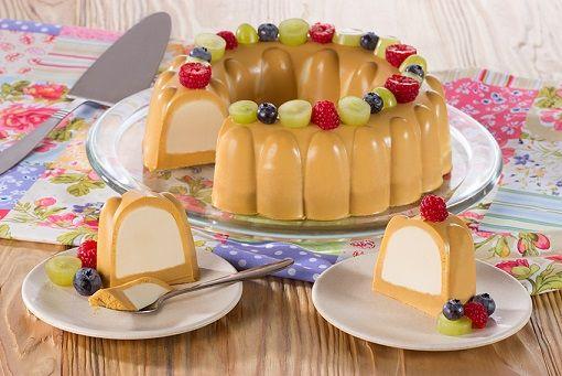 Te compartimos la receta para preparar Gelatina flotante de dulce de leche, cocina con inspiración con Recetas Nestlé.