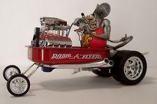 "CUSTOM ""RAT FINK"" RADIO FLYER WAGON, MUSCLE MACHINES, HOT WHEELS, RAT ROD 1:18"