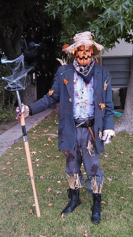 http://ideas.coolest-homemade-costumes.com/2014/11/03/scary-scare-crow-costume/