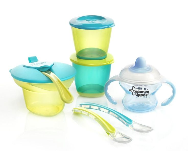 Baby  Tommee Tippee Explora Weaning Kit (Blue) Dishwasher Safe Food Drink