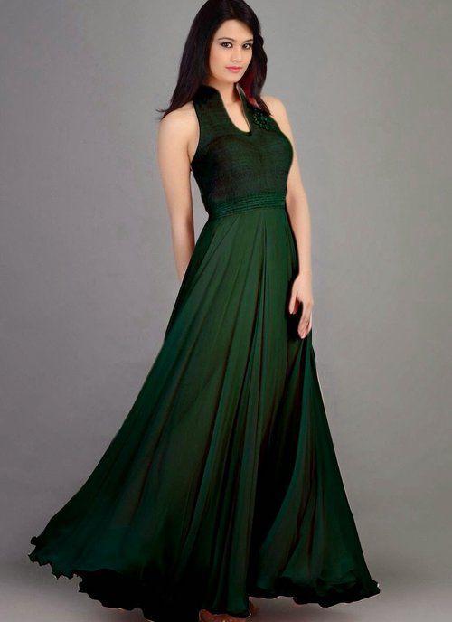 Butta Bottle Green Gown
