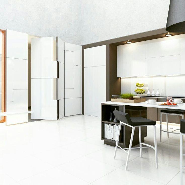Door panel and kitchen design.