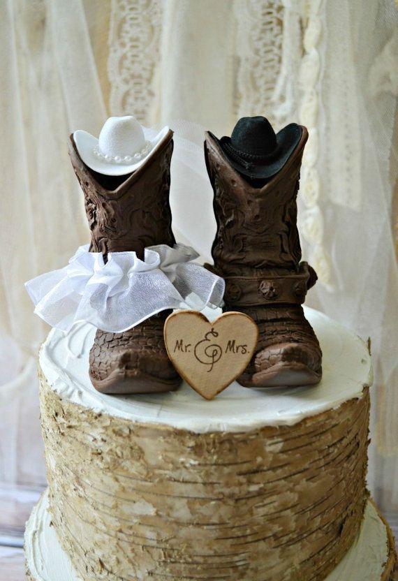 Country western wedding-cowboy boots wedding by MorganTheCreator