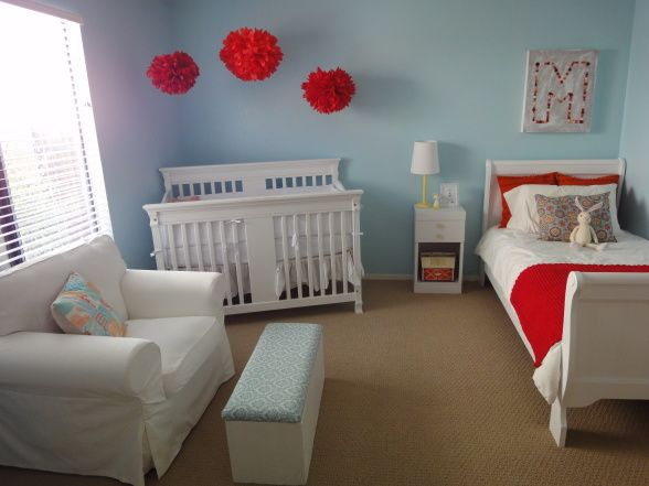 I can't stress enough how much I enjoy Eleanor Firth's red and baby blue room....