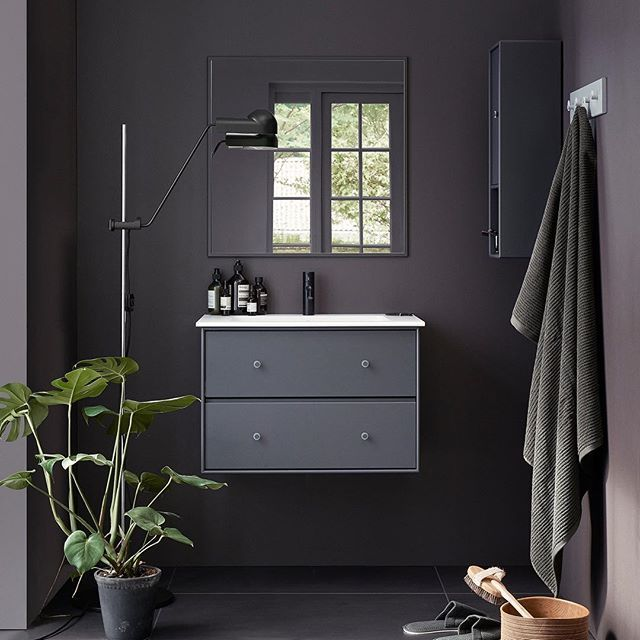 Montana Bathroom – 42 colours to choose from. #montanafurniture #bathroomdecor #interiordecor #bathroominterior #baderom #nordicstyle #darkgrey #homedecor